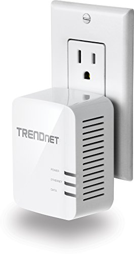 TRENDnet Powerline 1200 AV2 Single Adapter with Gigabit Port, Plug and Play, MIMO, Beamforming, TPL-420E by TRENDnet (Image #2)