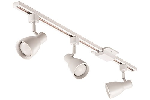 - Lithonia Lighting LTKSTBF BR20 LED 27K MW M4 3-Light step Baffle Track Kit, 24W, 1500 lm, White