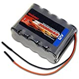 12V Tenergy 2000mAh NiMH Battery Pack with Bare Leads for RC Airplanes