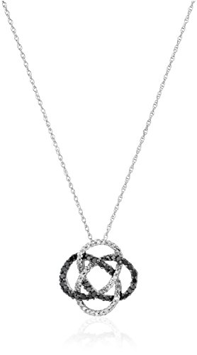 Black & White Diamond Pendant - 5