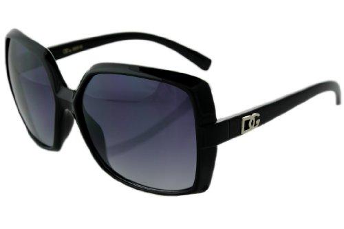 Designer Inspired Black Sunglasses JE61562B + Free Micro Fiber - Sunglasses Designer Dg