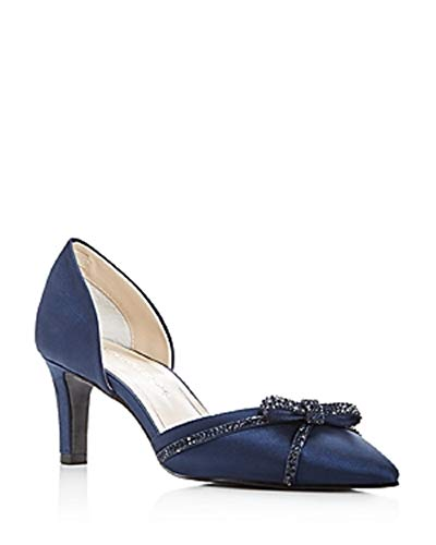 Caparros Juniper Satin Embellished D'Orsay Pumps Navy Size 8M