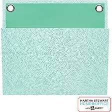 "Martha Stewart Home Office with Avery Small Shagreen Pocket, Blue, 8"" x 7-1/4"""
