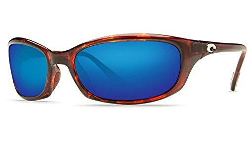 Costa Harpoon Sunglasses Tortoise / Blue Mirror Glass & Neoprene Classic - 580g Costa Harpoon