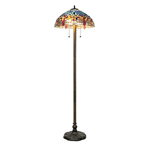 1908 Studios Dragonfly Floor (Stained Glass Floor Lamp)