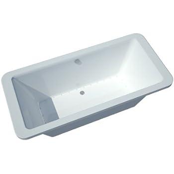 this item atlantis whirlpools 3267aa aquarius rectangular air jetted bathtub 34 x 67 center drain white - Jetted Bathtub