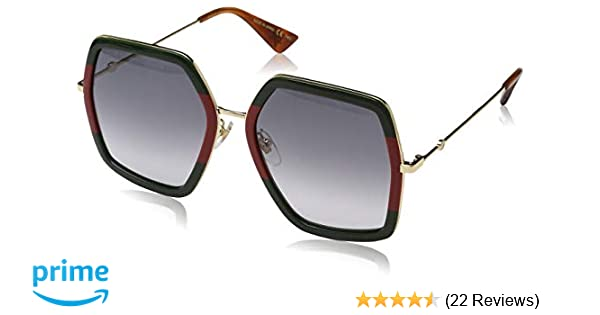 146a1142d4888 Amazon.com  Gucci GG 0106 S- GG0106S Sunglasses 56mm  Clothing