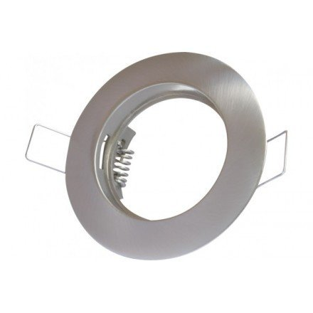 (Lot de 10)Collerette chrome inox fixe pour ampoule GU10-GU5.3-MR16 Support Spot Led Rond Finition inox- diamètre extérieur:Ø72x52mm encastrement:Ø62mm Accessoires Ampoules LED Digilamp