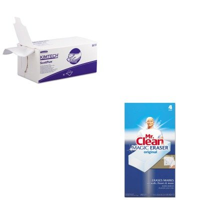 KITKIM06151PAG82027 - Value Kit - KIMBERLY CLARK SCOTTPURE Critical Task Wipers (KIM06151) and Mr. Clean Magic Eraser Foam Pad (PAG82027) by Kimberly-Clark