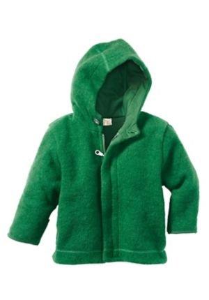 7e546b9fe0c3 hessnatur Wollfleece-Jacke aus reiner Bio-Schurwolle , grün , 98 104   Amazon.de  Baby