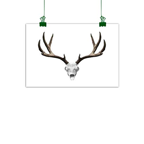J Chief Sky Antlers Decor Modern Art A Deer Skull Skeleton Head Bone Halloween Weathered Hunter Collection Canvas Art for Wall W 47