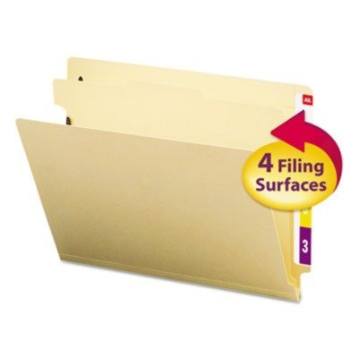 Smead Manila End Tab Classification Folders, Letter, Four-Section, 10/Box by Smead