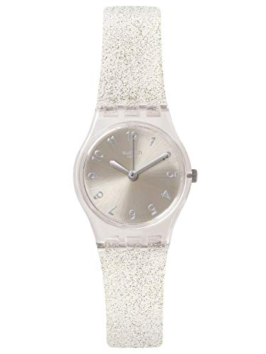 Swatch Originals Glistar Silver Dial Silicone Strap Ladies Watch LK343E