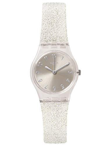 Swatch Originals Glistar Silver Dial Silicone Strap Ladies Watch ()