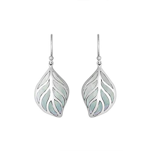 Sterling Silver Earring with Mother of Pearl AE-6252-MOP ()