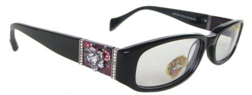 Ed Hardy EHO 728A Eyeglasses (CBLK) BLACK, 51 mm