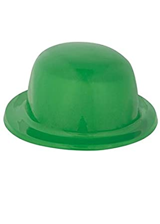 3f7dca07f3c The Riddler Style Green Plastic Bowler Hat  Amazon.co.uk  Toys   Games