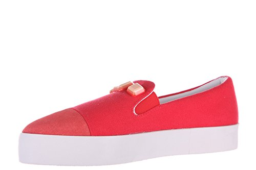 Armani Jeans slip on femme sneakers rouge