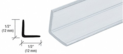 CRL Multi-Purpose Polycarbonate Angle Jamb for 1/4 to 1/2 Glass - 95 in long