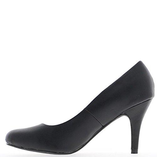 Grande vita femmina nero passepartout scarpe tacco 9,5 cm