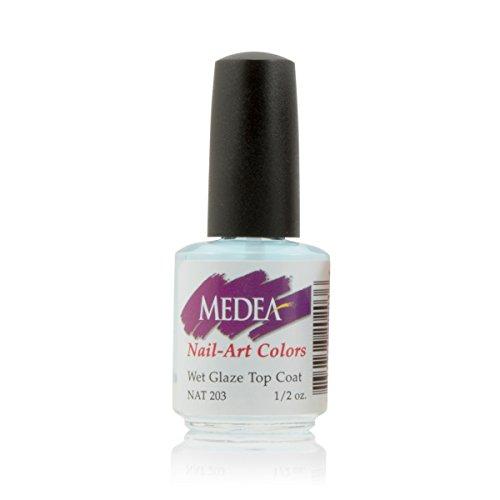 Medea Nail Wet Glaze Top Coat 1/2 - Nails Top Airbrush Coat For