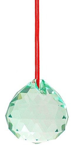 M.V. Trading 30mm Crystal Ball Prisms Pendant Feng Shui Suncatcher Decorating Hanging Faceted Prism Balls, (Feng Shui Green Pendant)