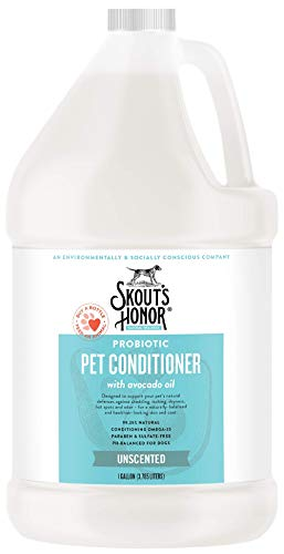 SKOUT'S HONOR: Probiotic Pet Conditioner – Defend Against Shedding, Itching, Dryness, and Odor – Infused with Avocado…