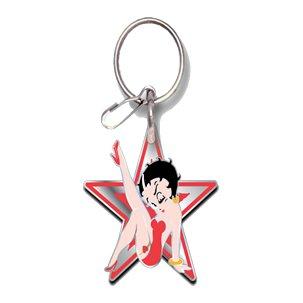 - U.A.A. INC. Betty Boop Star Design Enamel Key Chain Keychain