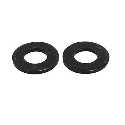 eDealMax M5 x 10 mm x 1 mm Negro zincado arandelas Planas de Los espaciadores de Juntas Sujetador 400PCS: Amazon.com: Industrial & Scientific
