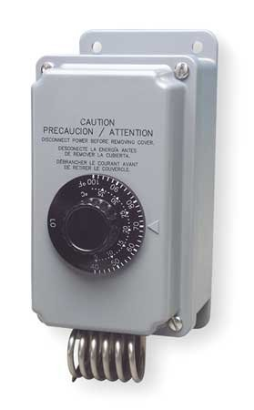 Line Voltage Mechanical Thermostat, 2-Stage Heating or Cooling, 24, 120 to 277VAC, 2 Stage