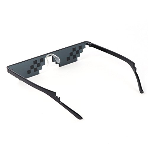 UJuly Black Funny Mosaic Sunglasses Toy for Kids Party Supplies Cool Mischievous Decoration for Men Women Adults by UJuly (Image #5)