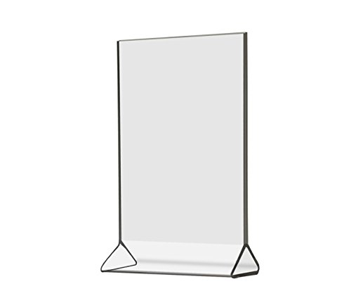 Cal-Mil 526 Classic Standard Tabletop Cardholder, 4'' Width x 0.25'' Depth x 6'' Height, Clear (Pack of 24) by Cal Mil