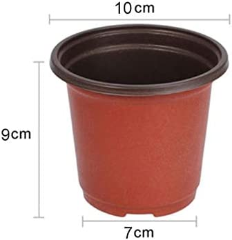 CFYRY 100pcsプラスチックが成長ボックス耐性苗トレイのホームガーデンの植物ポット育苗移植花苗ポット秋2020ホット (Color : Lavender)