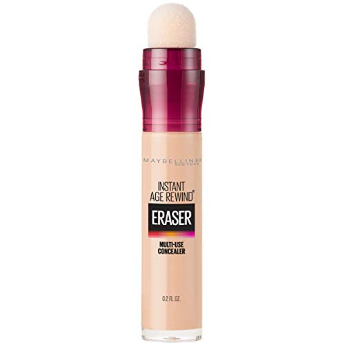 Maybelline Instant Age Rewind Eraser Dark Circles Treatment Multi-Use Concealer, Light, 0.2 fl. oz.