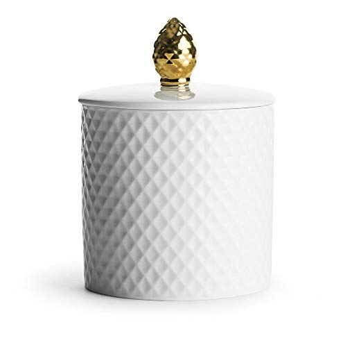 Sagaform Pine Cone Jar with Lid, White and Gold