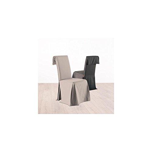 Fodera coprisedia, rivestimento per sedia - Altezza regolabile - 100% cotone - Color TORTORA ATMOSPHERA
