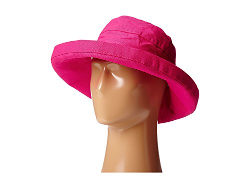 Scala Women's Cotton Hat with Inner Drawstring and Upf 50+ Rating,Fuchsia,One Size