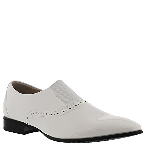 Stacy Adams Mænds Vale Plain-tå Formelle-smoking Slip-on Dagdriver Hvid Patent w6TBdyhfq4