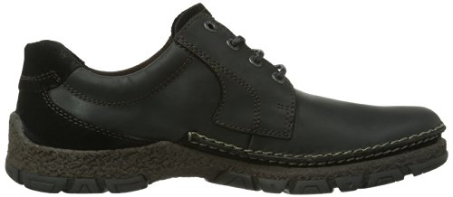 camel active Bormio 11 333.11.02, Scarpe stringate basse uomo, Nero (Black Waxed Leather/Oil Suede), 46