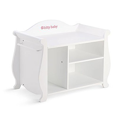 Amazon.com: American Girl Bitty Baby Changing Table U0026 Storage 2015: Toys U0026  Games