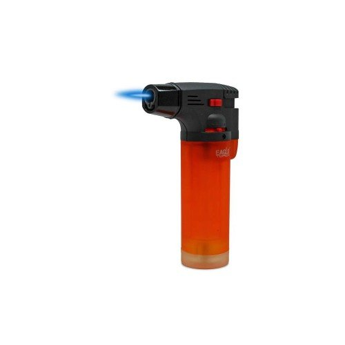 Lighter Adjustable Flame Windproof Butane Refillable Handy (Orange) (Micro Jet Pocket Torch)