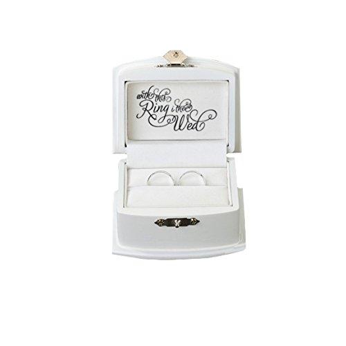 Lillian Rose Ring der Box, 3,5von 2,75Zoll), weiß