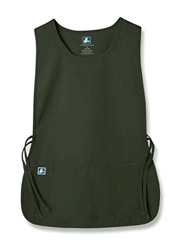 (Adar Unisex Cobbler Apron with 2 Pocket/Adjustable Ties - Olive - Regular)