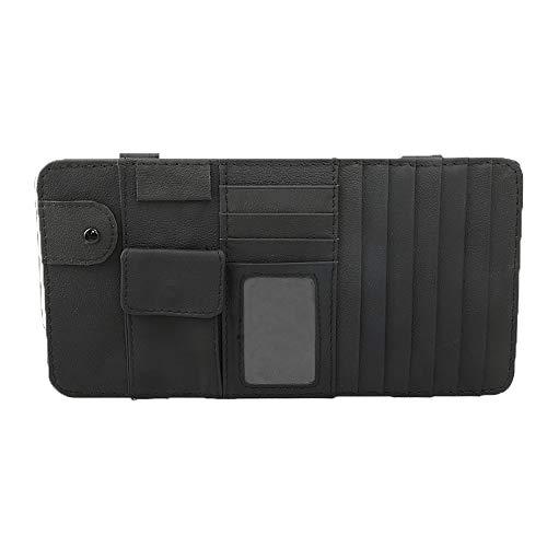 Lelance Car Visor Organizer, Multi-Function Sunshade Car Document Holder Bag,Auto Accessories Storage Pouch for Universal Truck Interior Decorations Pocket Organizer Black Rice Ash Optional(Black)