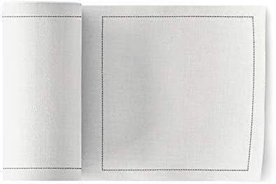 MYdrap Servilletas de cóctel, Algodón, color Blanco, tamaño 11x11 ...