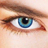 e679ae66f5b640 Lentilles De Contact De Couleur Triple Tone Bleu Ciel (sans correction)