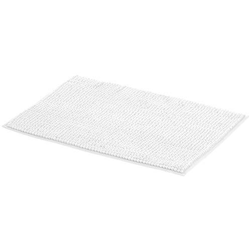 AmazonBasics Chenille Bath Mat – White, Small