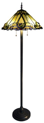 Chloe Lighting CH18A518FL 2 Light Victorian Floor Standing Lamp