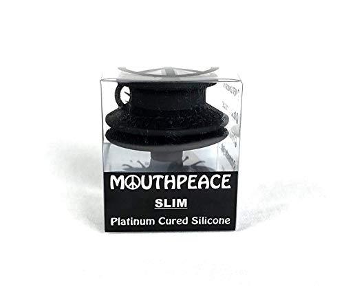 (Mouth Peace 100% Platinum Cured Silicone (BLACK, SLIM))