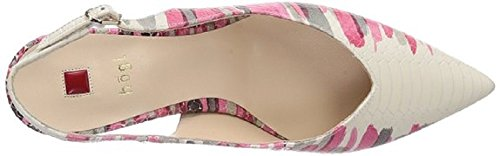 Hogl Women's 9-106108 Smart Pointed Toe Sling-Back Court Shoes in Pink/Multi Paint Snake Leather HO 64 RHwdhB